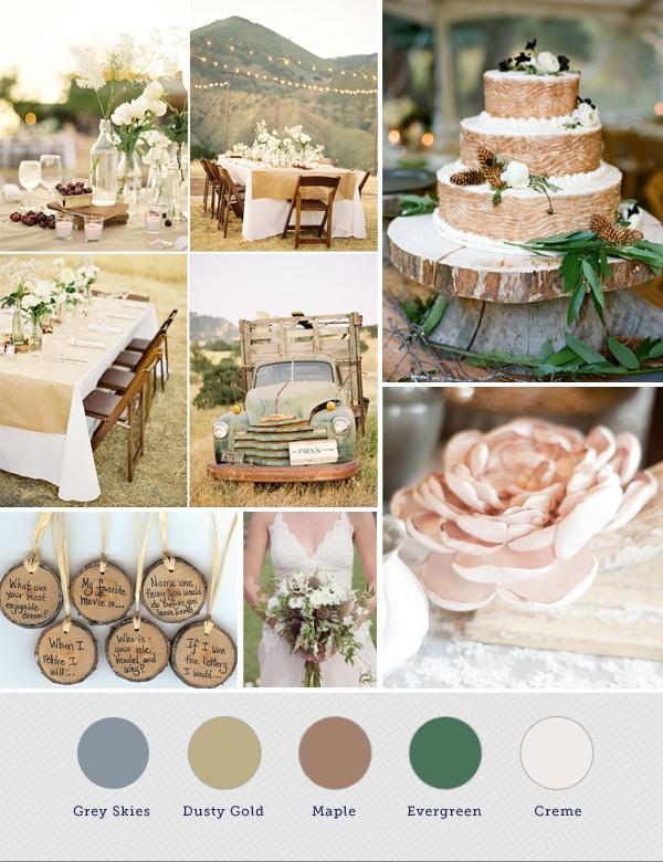 Rustic Wedding Colors For Summer Wedding Ideas