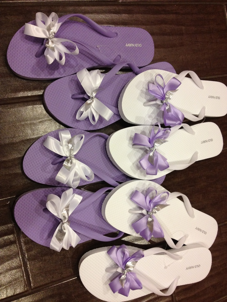 c708722d3 ... flip flop basket view larger picture bridesmaid shoes diy ...